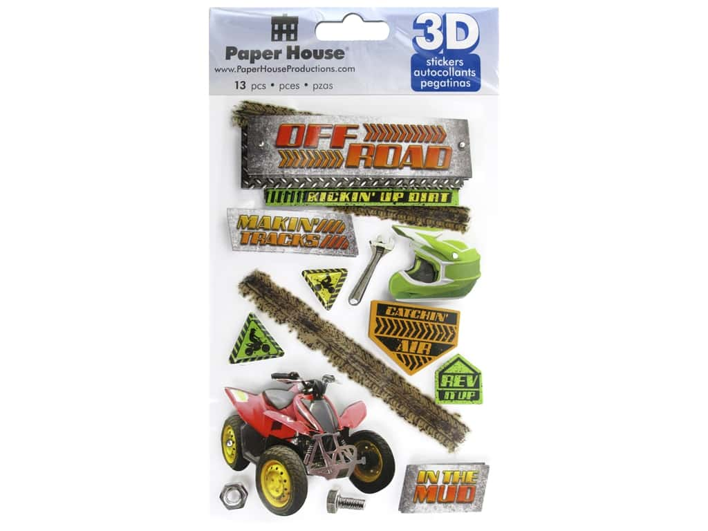 Paper House Sticker 3D Off Road