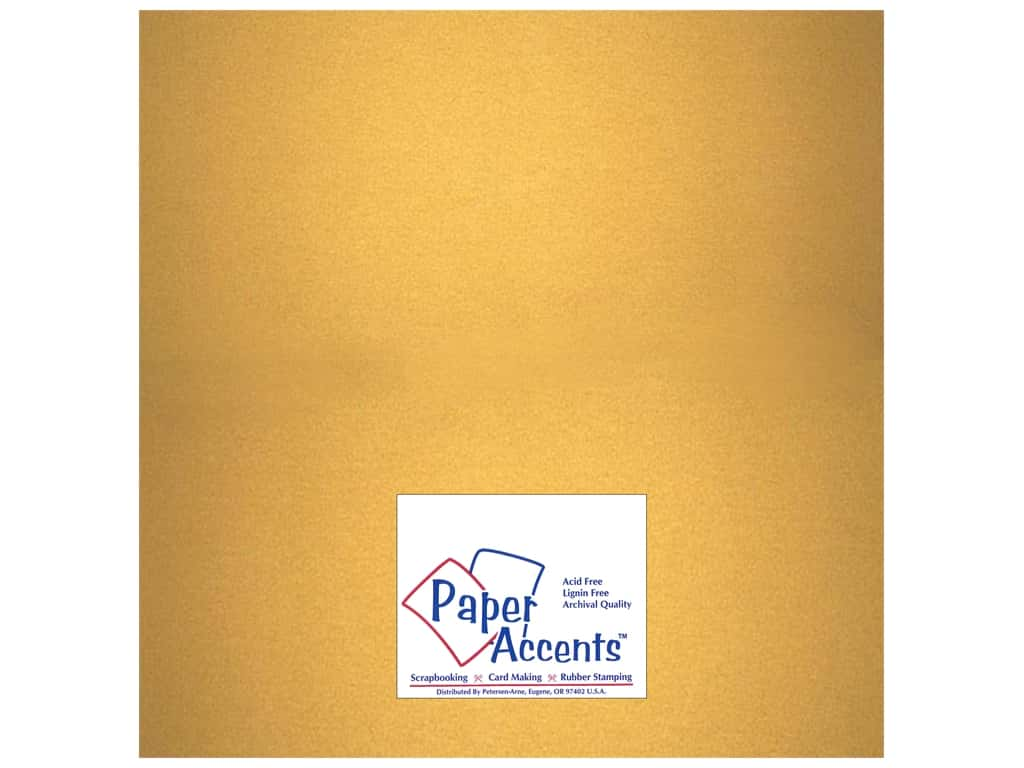 Cardstock 12 x 12 in. #877C Pearlized Gold by Paper Accents ADP1212-25.877C