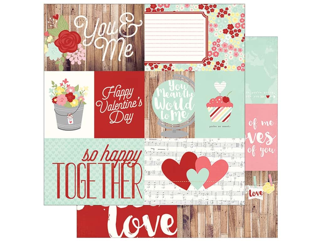 Simple Stories 12 x 12 in. Paper You & Me Elements 1 2033