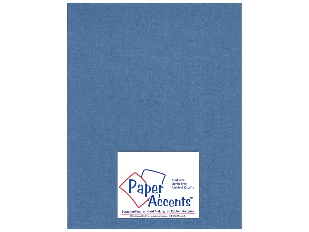 Cardstock 8 1/2 x 11 in. Glimmer Sapphire Sparkle by Paper Accents ADP8511-25.27713