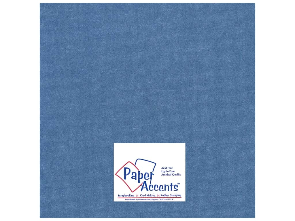 Cardstock 12 x 12 in. Glimmer Sapphire Sparkle by Paper Accents ADP1212-25.27713