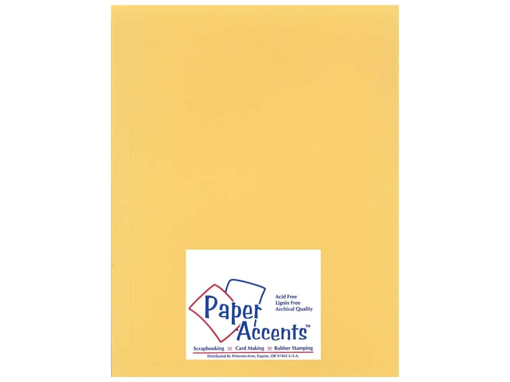 Cardstock 8 1/2 x 11 in. Heavyweight Smooth Antique Gold by Paper Accents ADP8511-25.14403