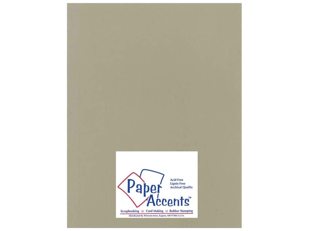 Paper Accents Cardstock 8 1/2 x 11 in. #18802 Heavyweight Smooth Putty ADP8511-25.18802