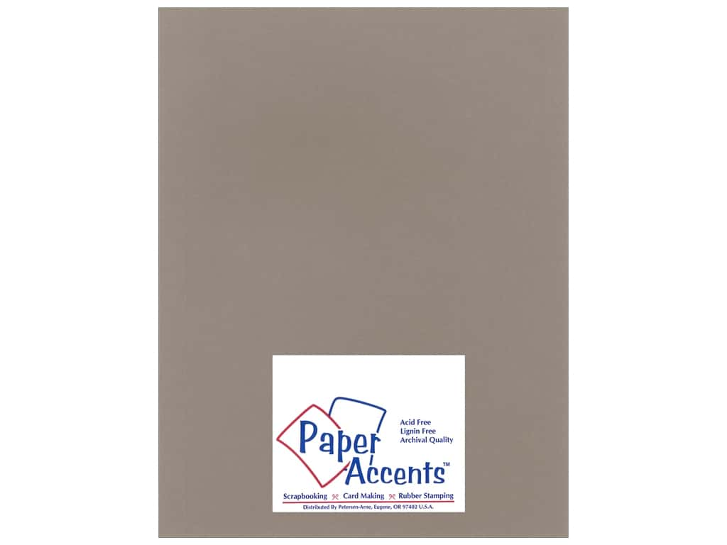 Paper Accents Cardstock 8 1/2 x 11 in. #1101001 Heavyweight Smooth Slate ADP8511-25.1101001
