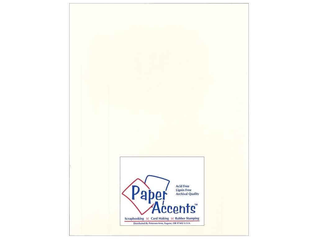 Paper Accents Cardstock 8 1/2 x 11 in. #18801 Heavyweight Smooth Whitewash ADP8511-25.18801