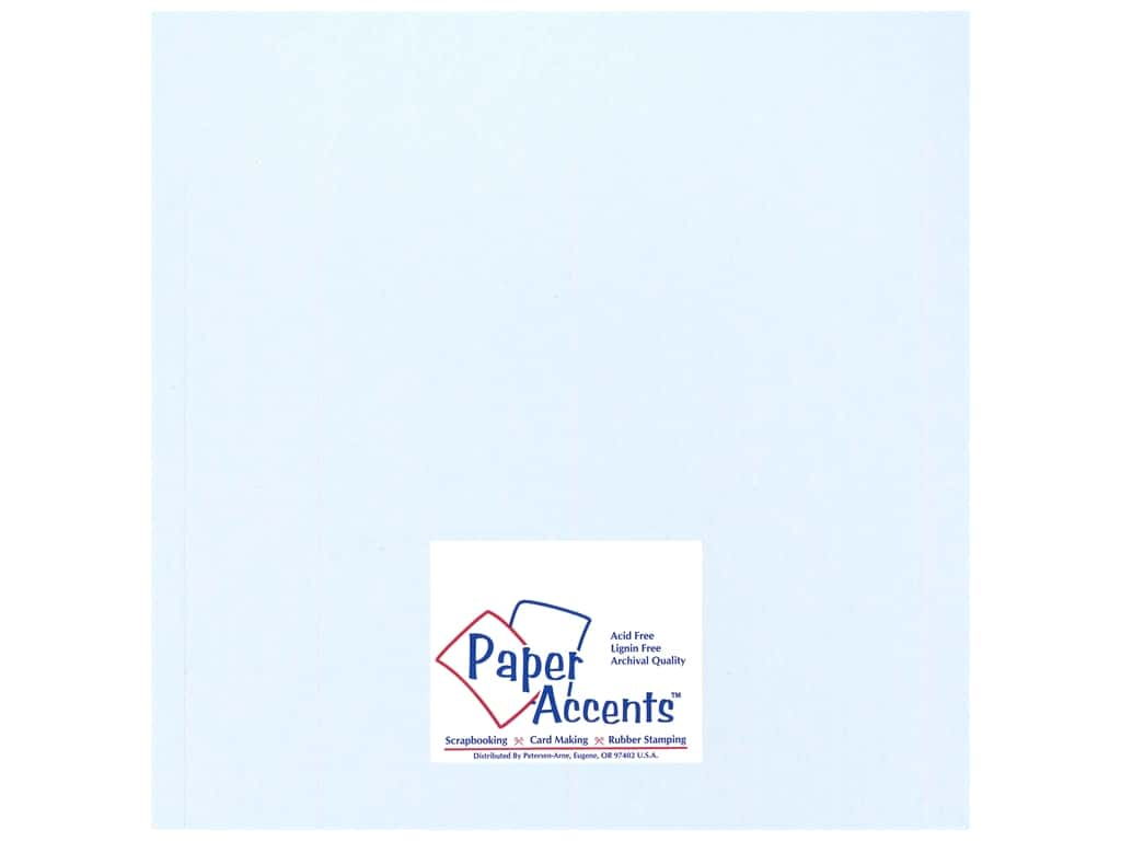 Paper Accents Cardstock 12 x 12 in. #17704 Heavyweight Smooth Blue Mist ADP1212-25.17704