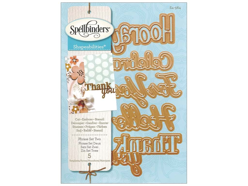 Spellbinders Shapeabilities Die Phrase Set Two S4-564