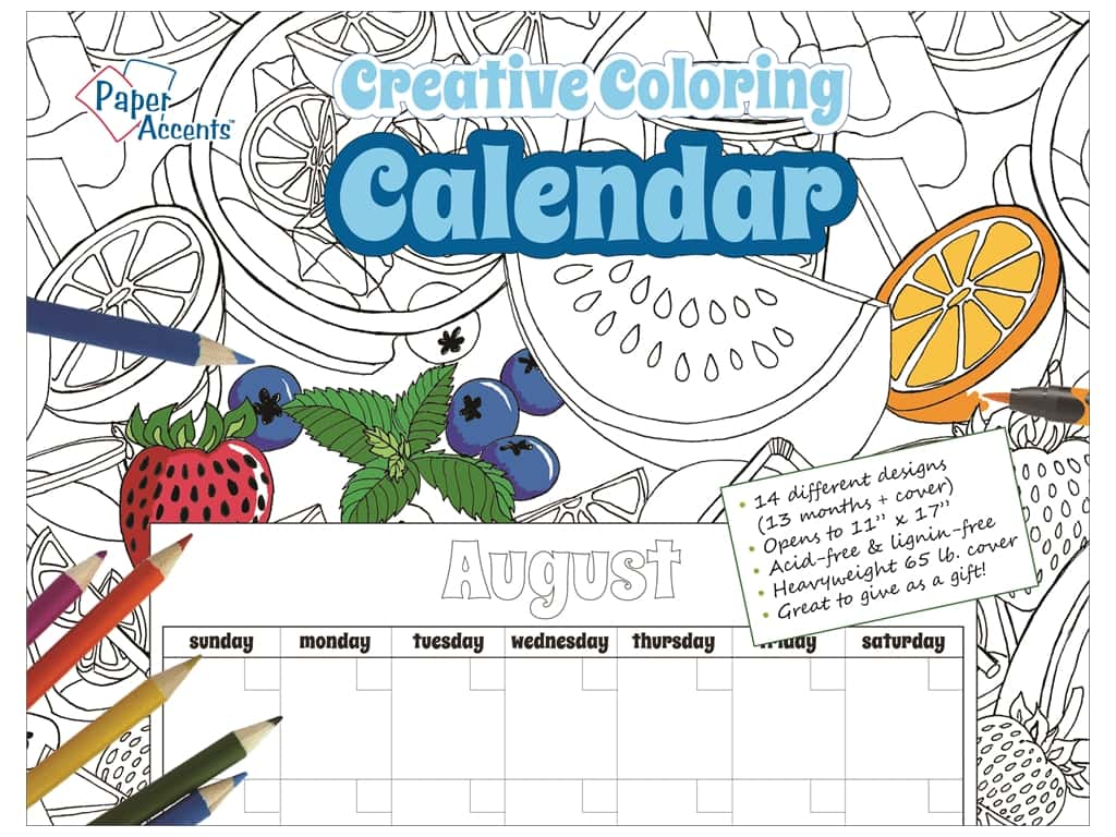Creative Coloring Monthly Calendar