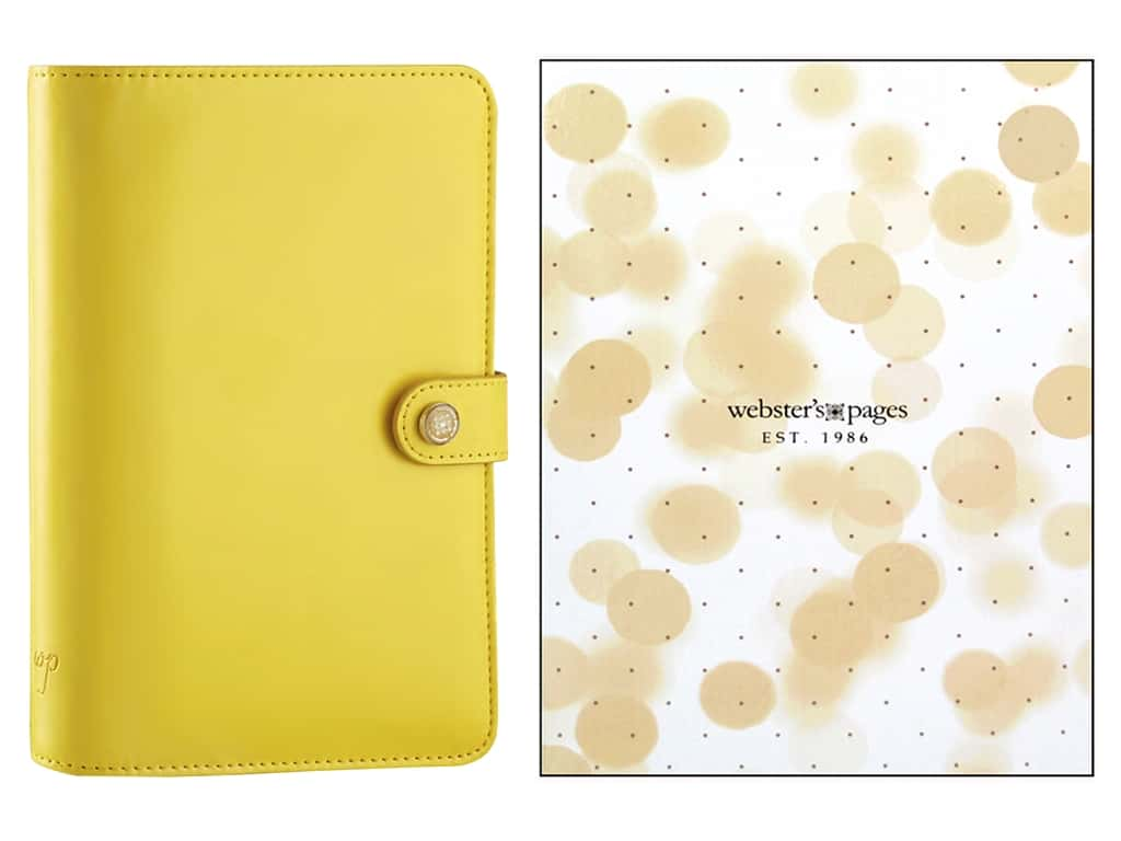 Webster's Pages Color Crush 2016 Personal Planner Kit Yellow