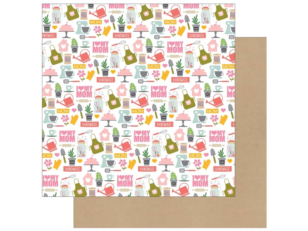 Echo Park 12 x 12 in. Paper Beautiful Mom I Love My Mom SW7104