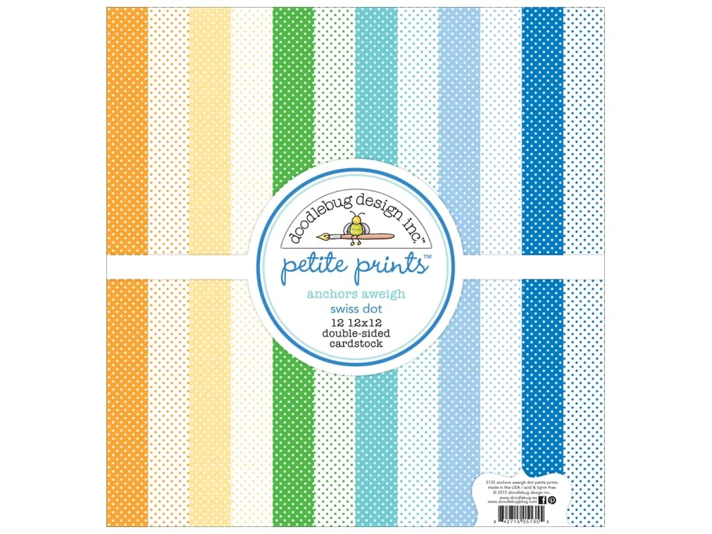 Doodlebug 12 x 12 in. Paper Pack Anchors Aweigh Swiss Dot 5135