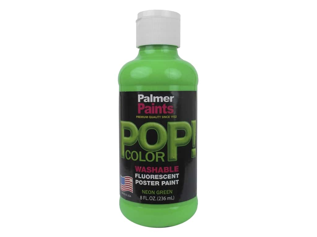 Palmer Washable Poster Paint 8 oz. Neon Green