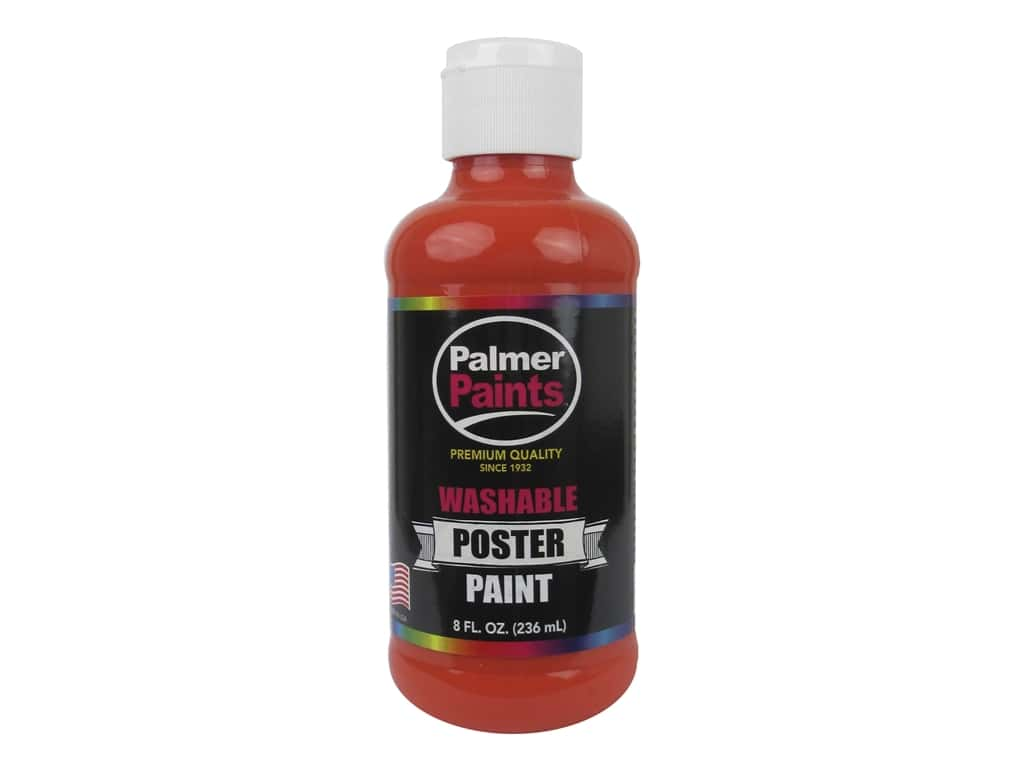Palmer Washable Poster Paint 8 oz. Orange 124408