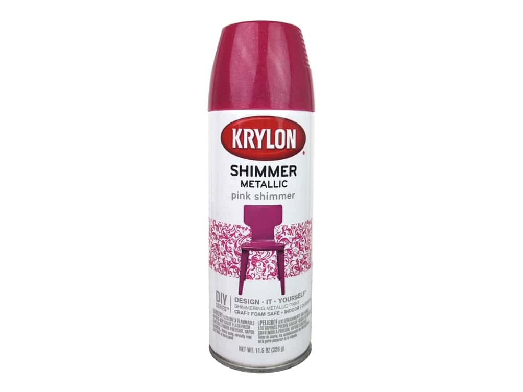 Krylon Shimmer Metallic Spray Paint 11 5 Oz Pink Ebay