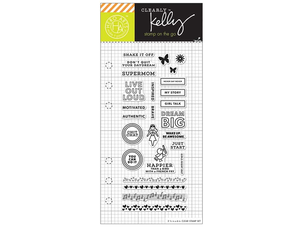 Hero Arts Poly Clear Stamp Kelly Planner Girl Talk