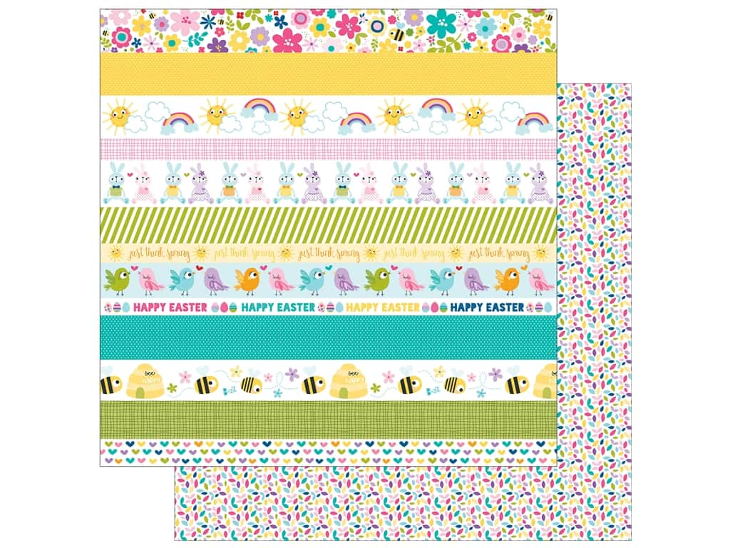 Bella Blvd 12 x 12 in. Paper Sweet Sweet Spring Borders 1114