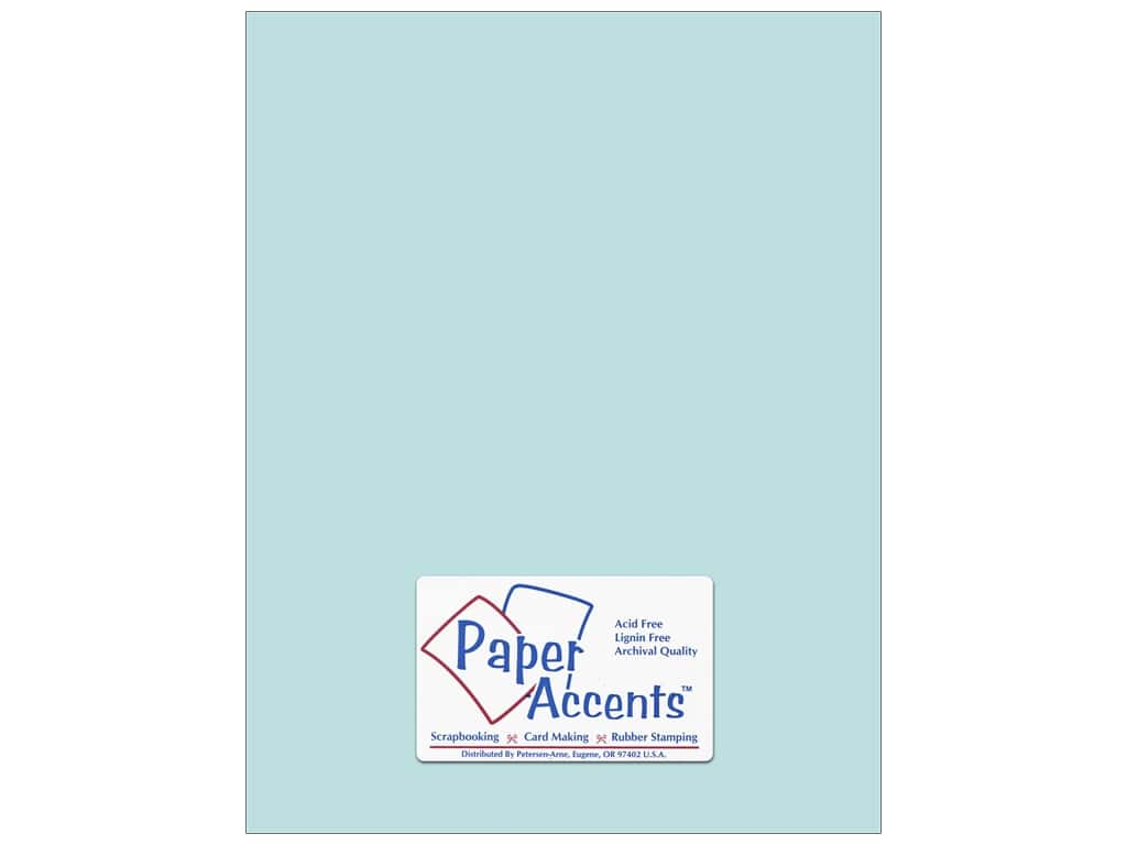 Paper Accents Cardstock 8 1/2 x 11 in. #8041 Muslin Vibrant Blue ADP8511-25.8041