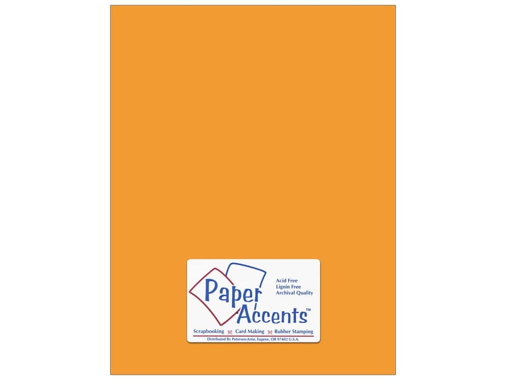 Cardstock 8 1/2 x 11 in. #143 Smooth Pumpkin by Paper Accents ADP8511-25.143