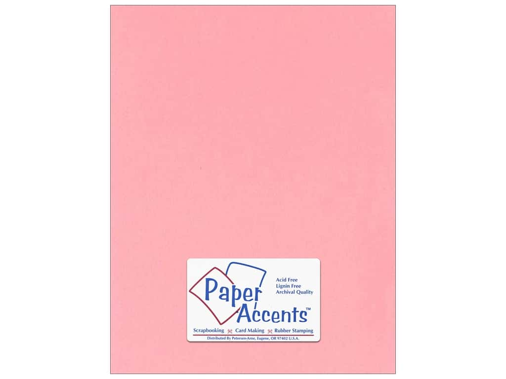 Paper Accents Cardstock 8 1/2 x 11 in. #124 Smooth Light Pink ADP8511-25.124