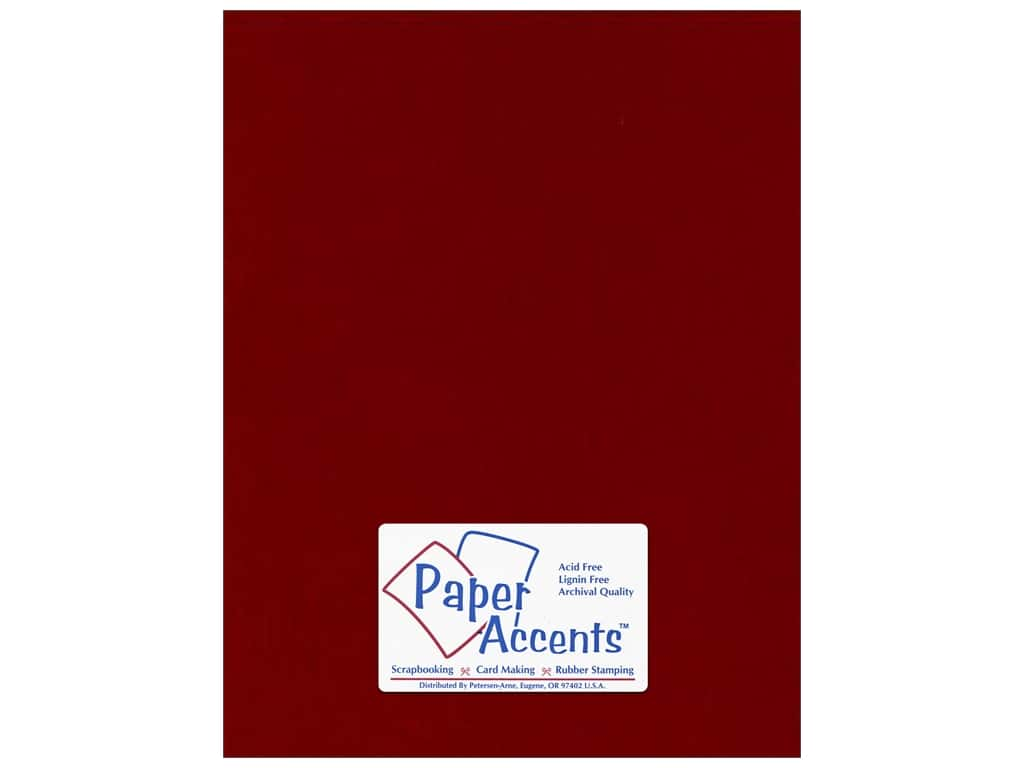 Paper Accents Cardstock 8 1/2 x 11 in. #135 Smooth Brick ADP8511-25.135
