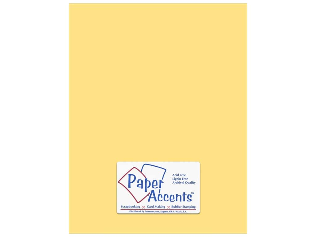 Paper Accents Cardstock 8 1/2 x 11 in. #138 Smooth Sunflower ADP8511-25.138