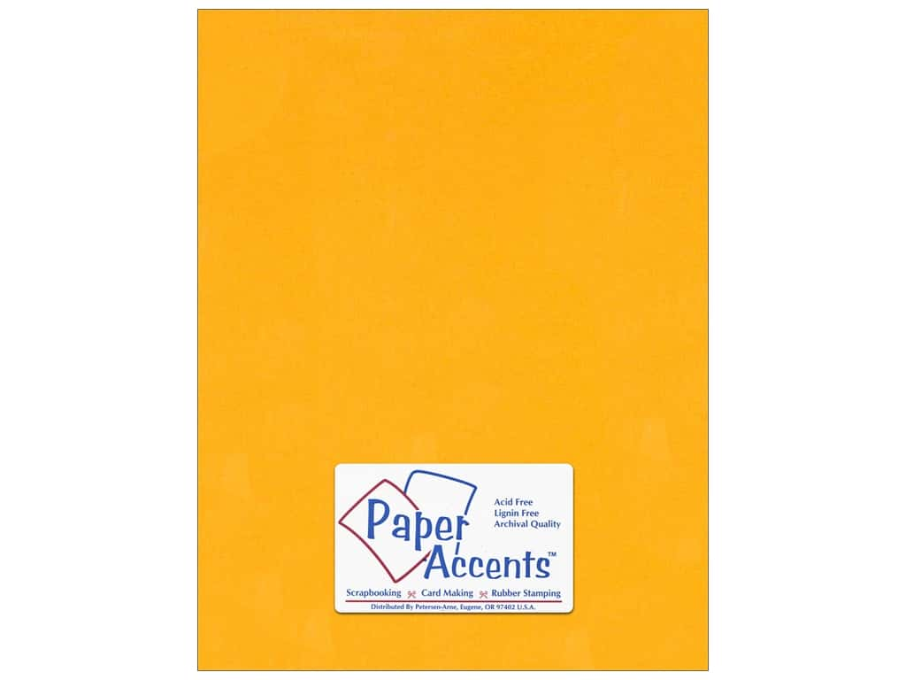Cardstock 8 1/2 x 11 in. #120 Smooth Goldenrod by Paper Accents ADP8511-25.120