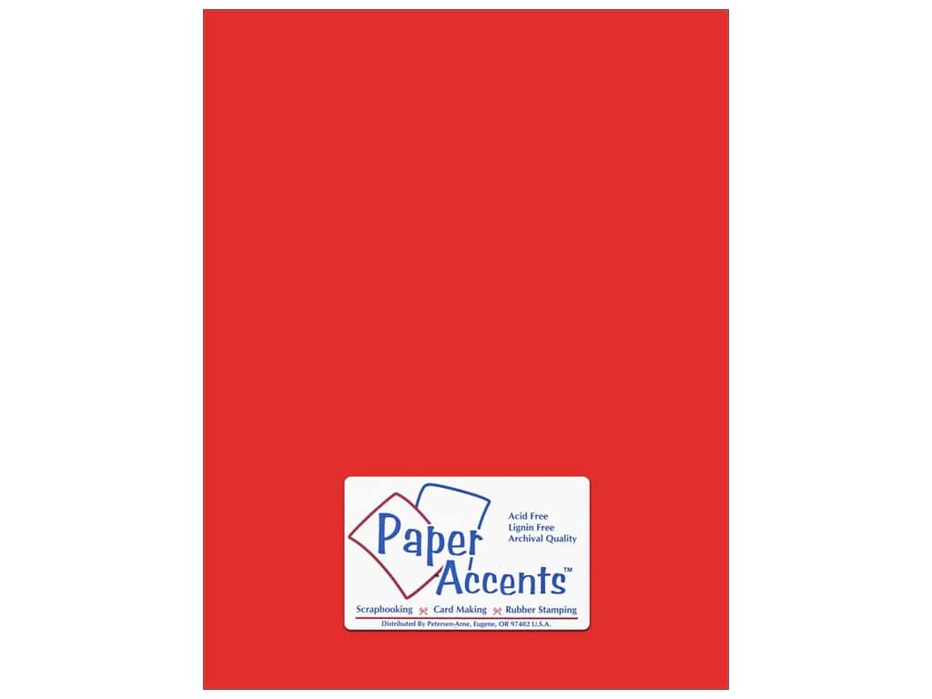 Cardstock 8 1/2 x 11 in. #178 Smooth Scarlet by Paper Accents ADP8511-25.178