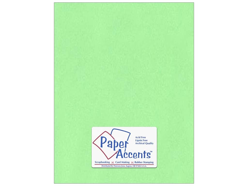 Paper Accents Cardstock 8 1/2 x 11 in. #132 Smooth Apple Green ADP8511-25.132