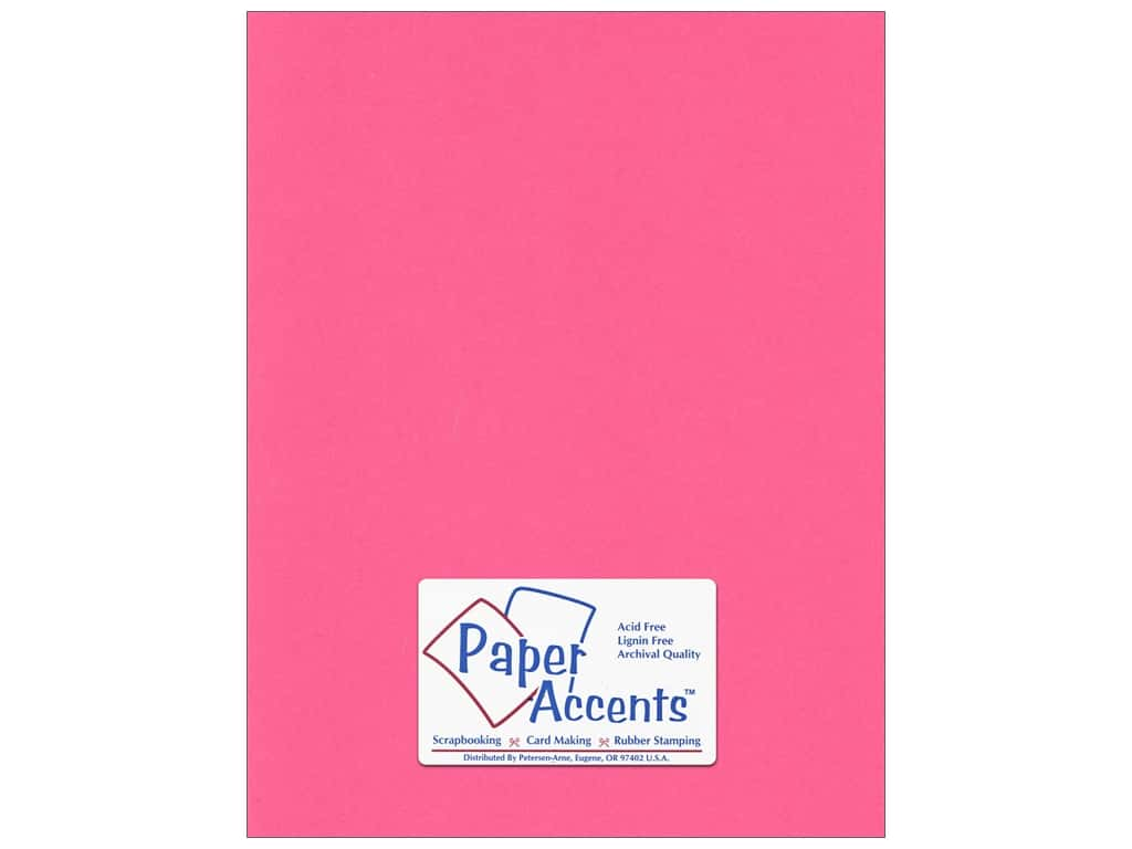 Cardstock 8 1/2 x 11 in. #192 Smooth Razzle Berry by Paper Accents ADP8511-25.192