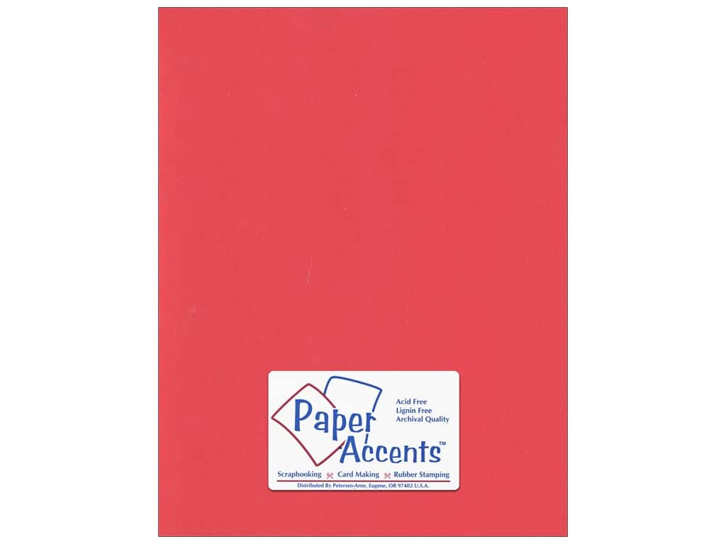 Cardstock 8 1/2 x 11 in. #197 Smooth Poppy by Paper Accents ADP8511-25.197