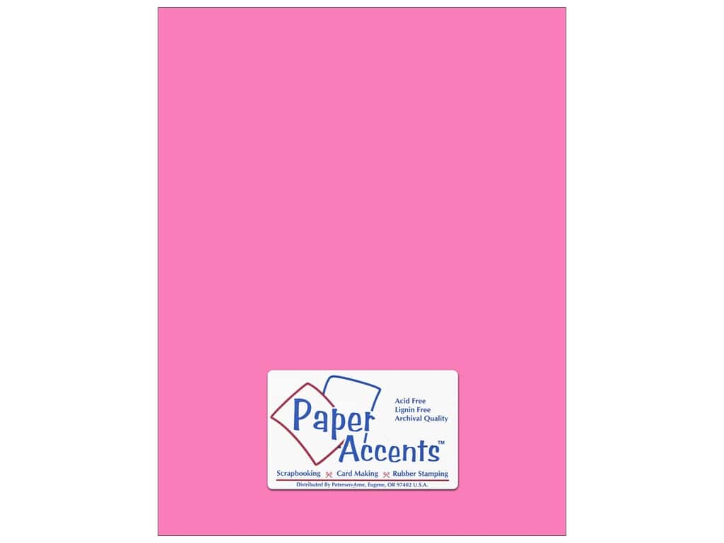 Paper Accents Cardstock 8 1/2 x 11 in. #191 Smooth Pink Sizzle ADP8511-25.191