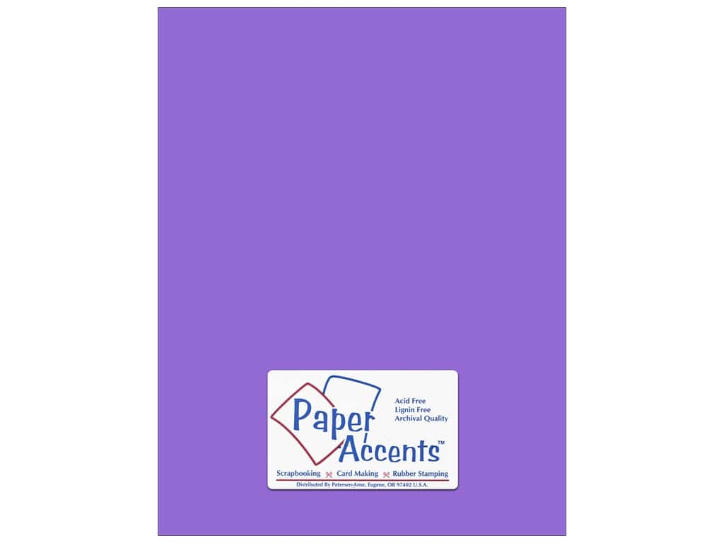 Cardstock 8 1/2 x 11 in. #146 Smooth Violet by Paper Accents ADP8511-25.146