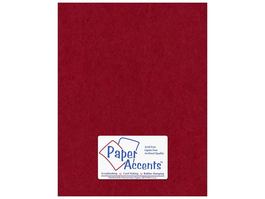 Paper Accents Cardstock 8 1/2 x 11 in. #163 Smooth Chili ADP8511-25.163