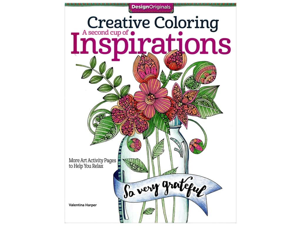 Design Originals Creative Coloring A Second Cup of Inspirations Book
