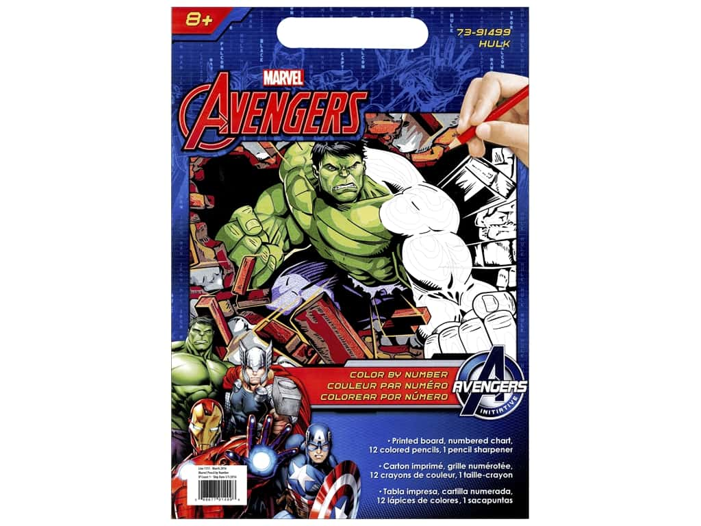 "Dimensions Color By Number 9""x 12"" Hulk 73-91499"