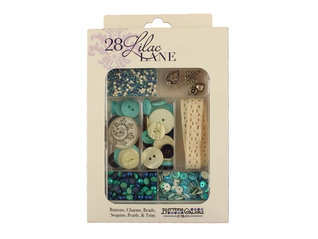 Buttons Galore 28 Lilac Lane Embellishment Kit Attic Findings LL103
