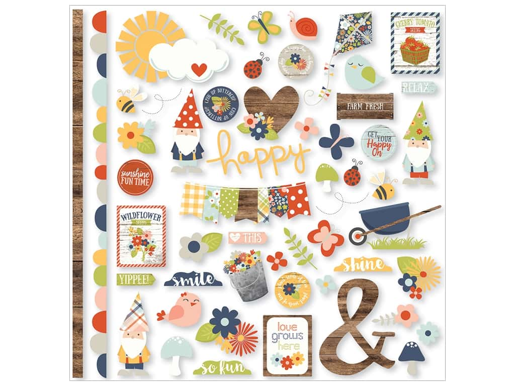 Simple Stories Collection Bloom & Grow Sticker Fundamentals