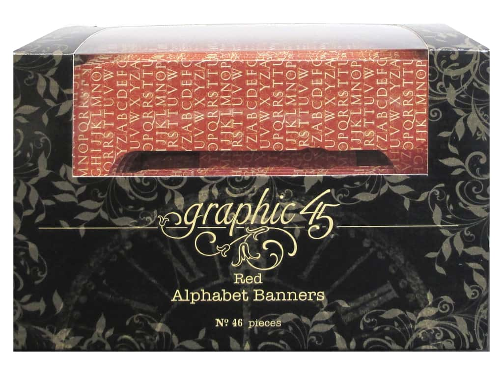 Graphic 45 Staples Alpha Banner Red