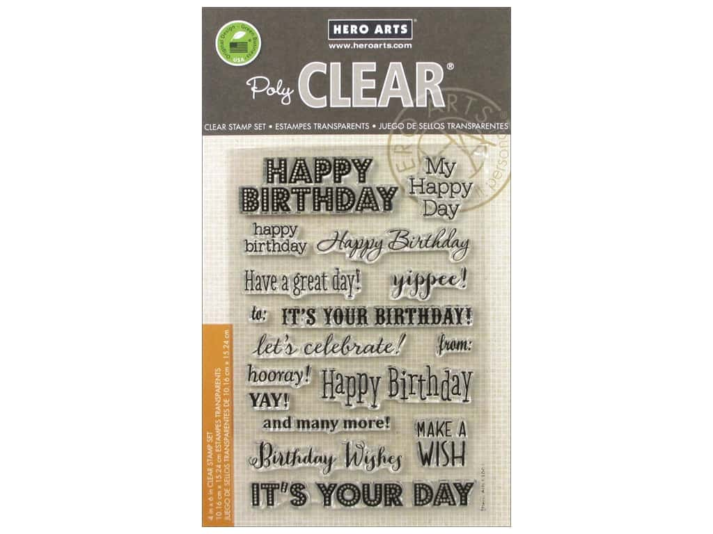 Hero Arts Poly Clear Stamps It's Your Day CL661