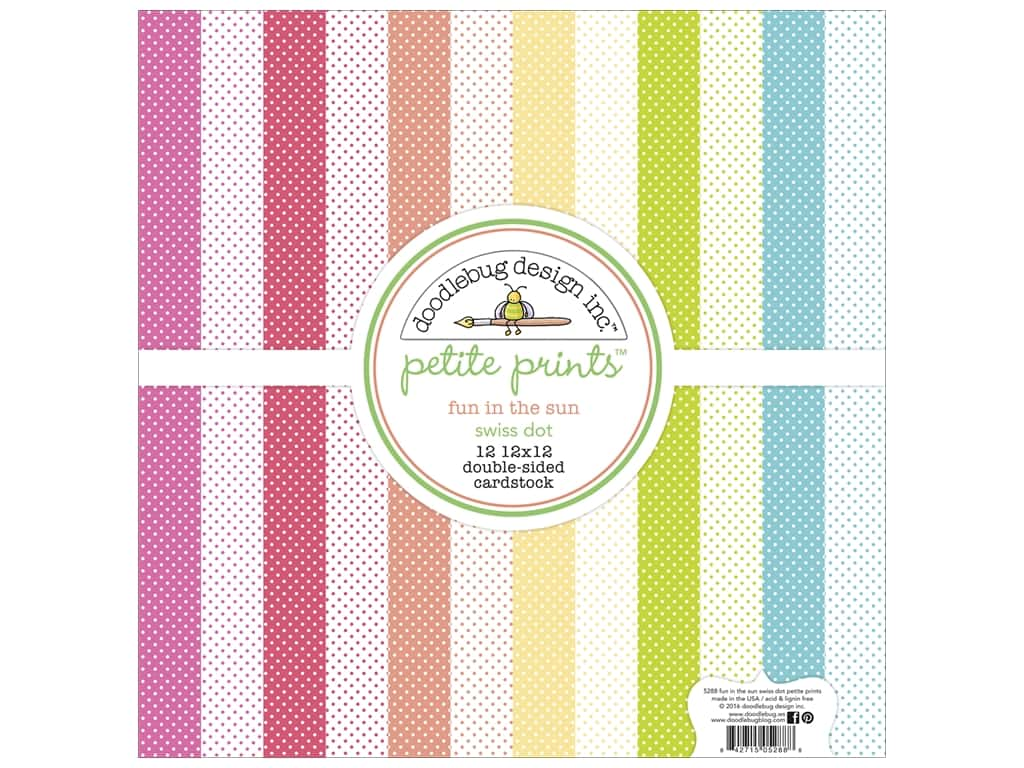 Doodlebug 12 x 12 in. Paper Pack Fun In The Sun Swiss Dot 5288