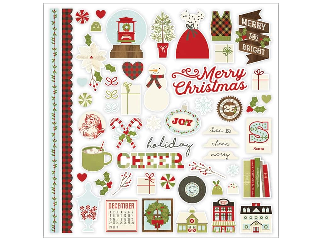 Simple Stories Collection Classic Christmas Sticker Fundamentals