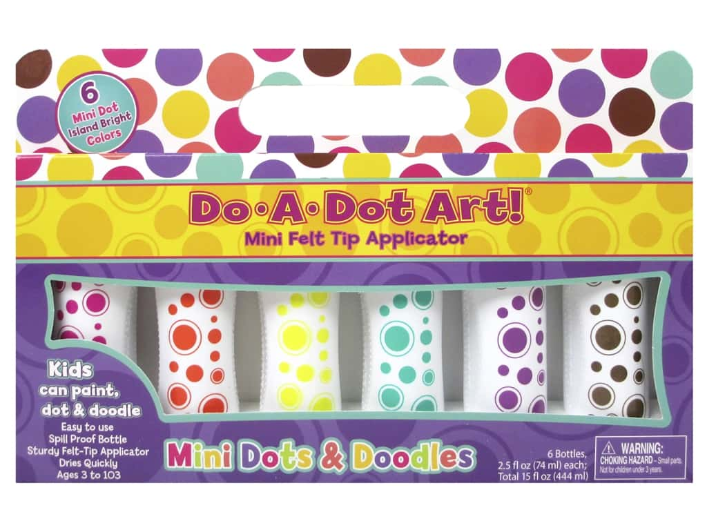 Do-A-Dot Art Markers Mini Dots Island Bright 6pc