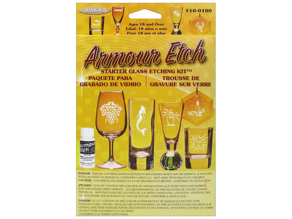 Armour Glass Etching Kit Starter 10-0100
