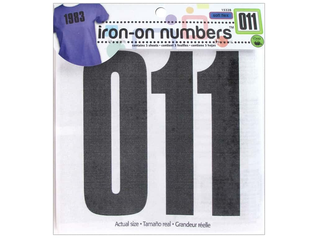 Iron-On Numbers by Dritz 5 in. Black 15328