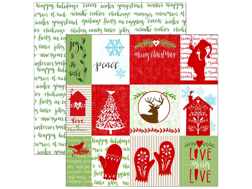 Paper House Collection Home For Christmas Paper 12x12 Tag