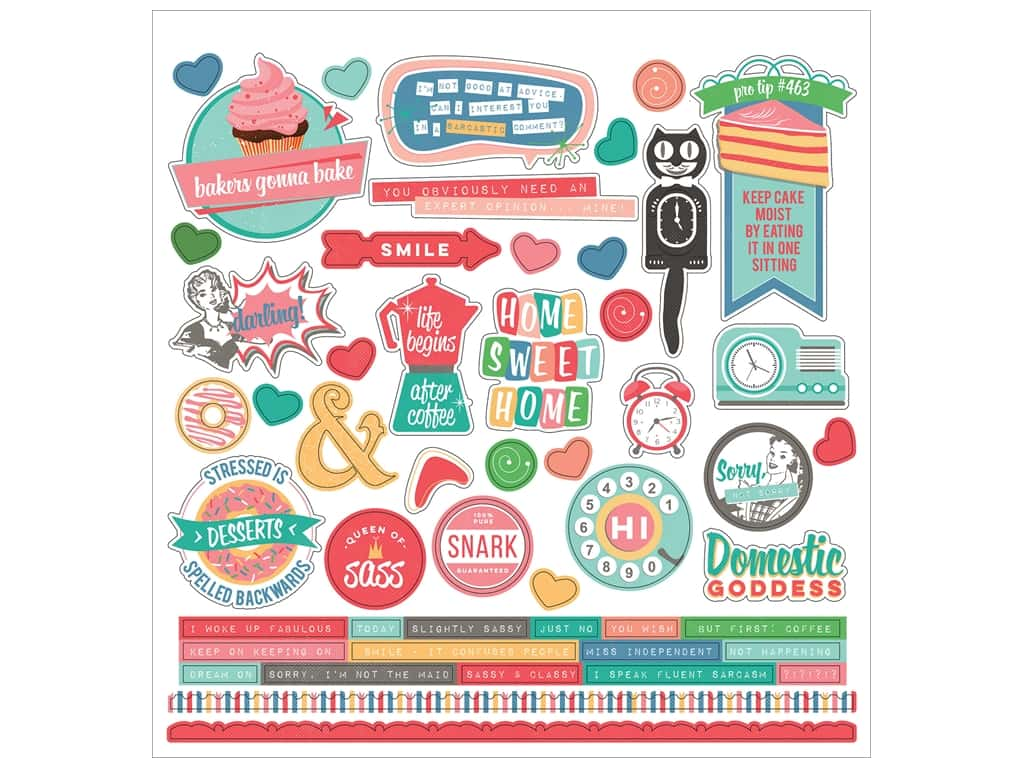 """Photo Play Collection Slightly Sassy Sticker 12""""x 12"""" Elements"""