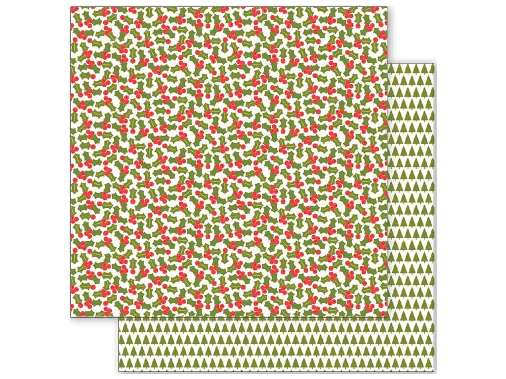 Pebbles 12 x 12 in. Paper Holly Jolly Holly 733161