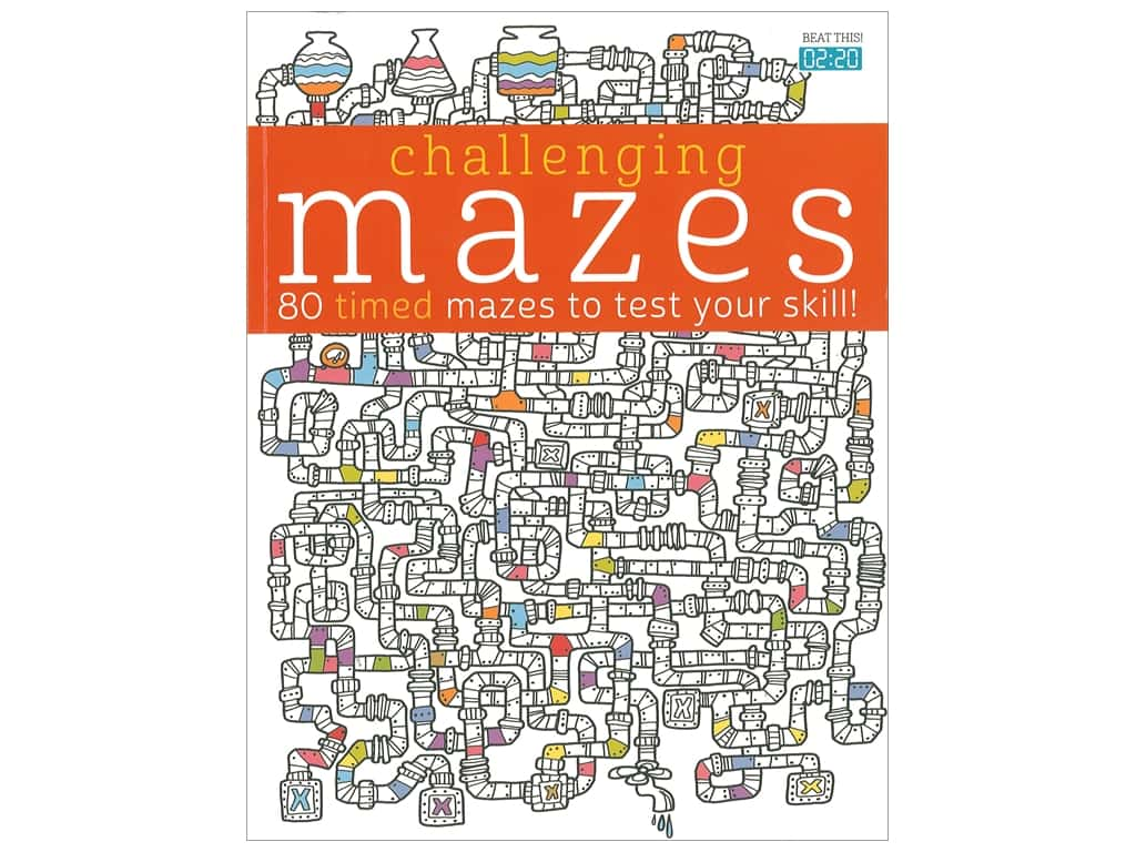 Barron's Challenging Mazes Coloring Book