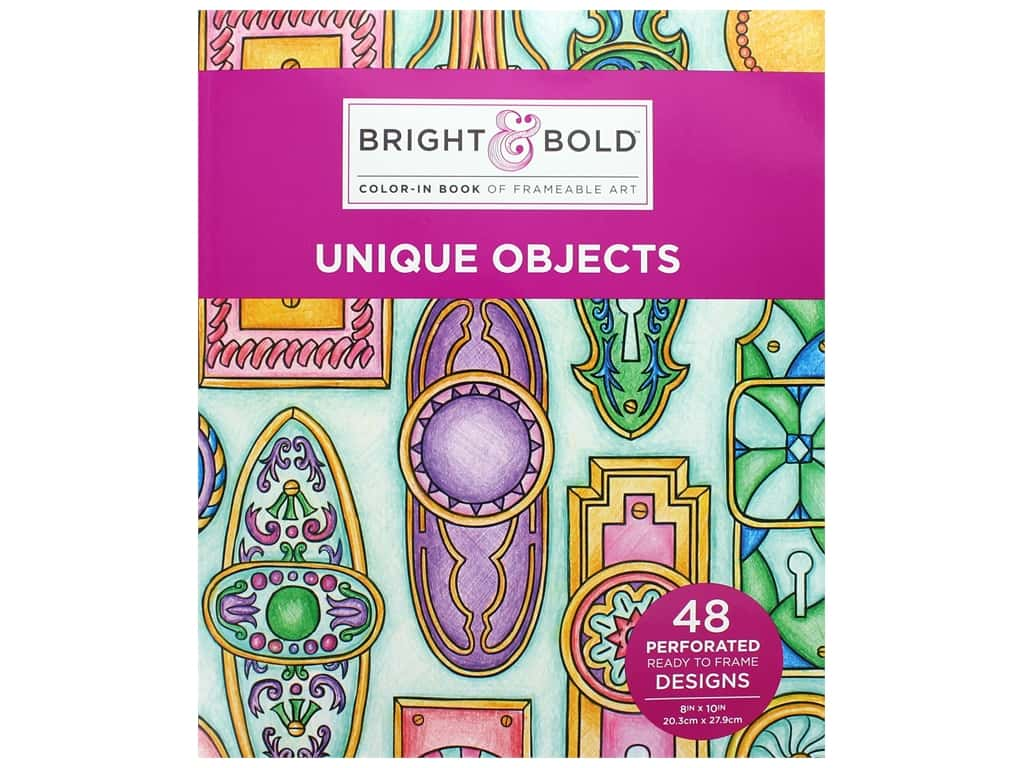 Darice Bright & Bold Color-In Book of Frameable Art: Unique Objects
