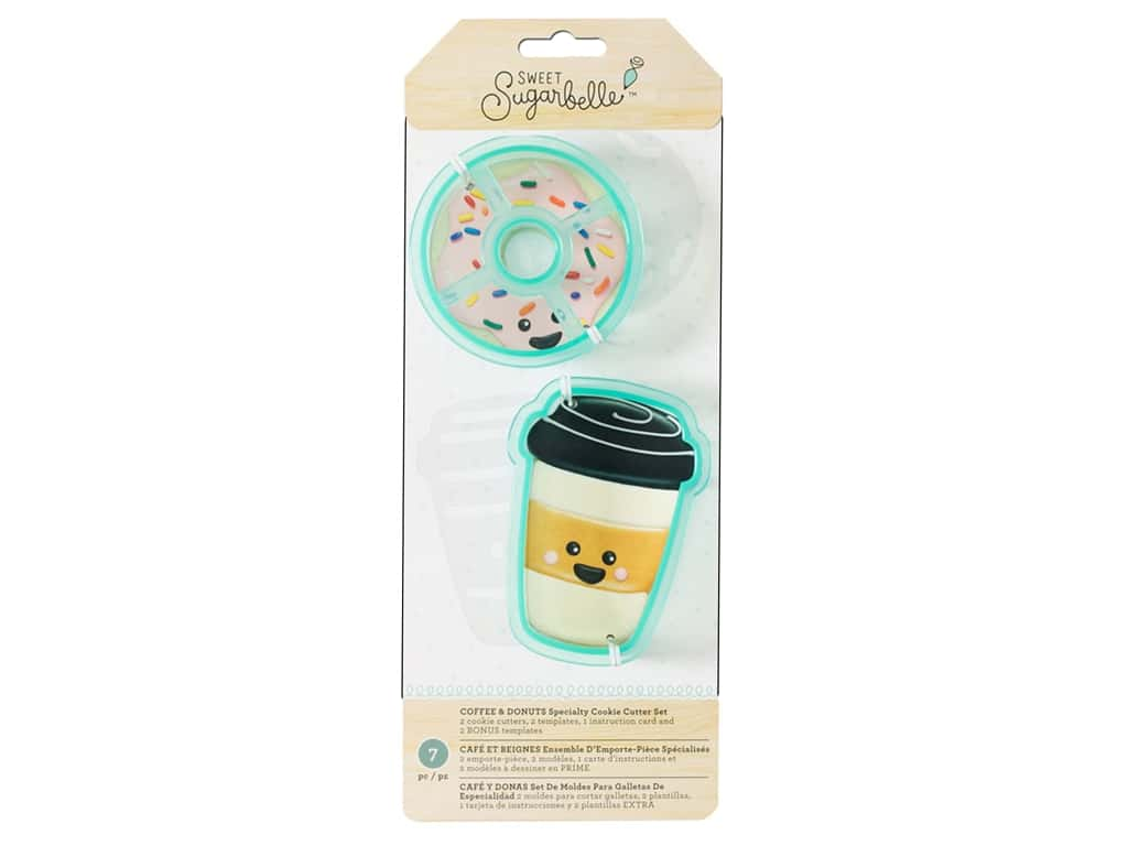 American Crafts Sweet Sugarbelle Cookie Cutter Set Coffee & Donut
